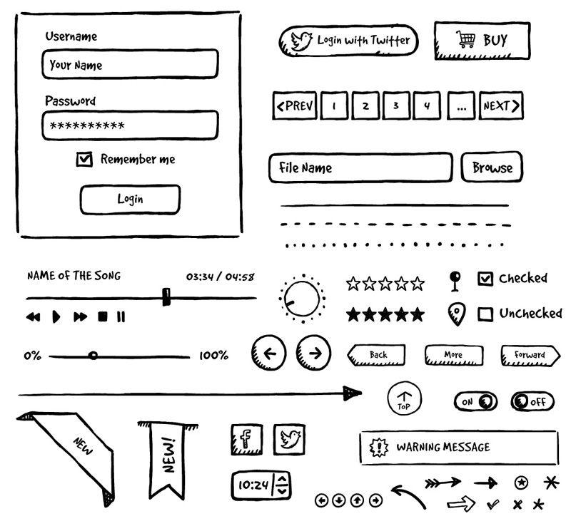 Дизайн сайта нарисованный от руки